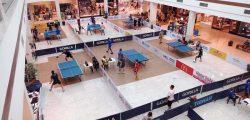Mesatenistas de Santa Maria de Jetibá participam de campeonato em shopping