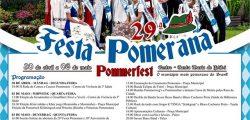 Confira a programação Oficial da Festa Pomerana 2018!